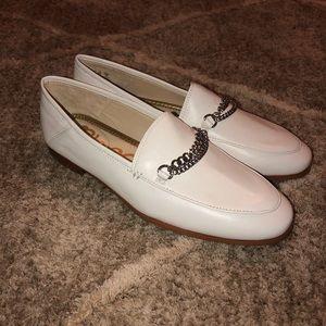 Sam Edelman White Lorenzo Chain Loafers BNITB